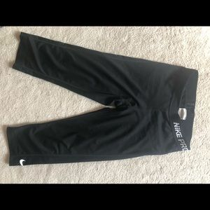 Black nike pro leggings